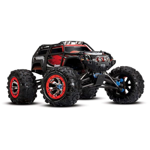 VOITURE RADIOCOMMANDEE TRAXXAS SUMMIT 4X4 ROUGE TRX56076 SYRACOM MODELISME ESLETTES ROUEN NORMANDIE