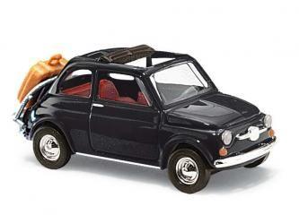 FIAT 500 VOYAGE  BUV48727 BUSCH HO VOITURE MINIATURE MAQUETTE TRAIN MODELISME ESLETTES ROUEN NORMANDIE