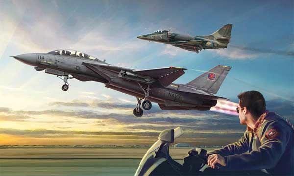 MAQUETTE ITALERI  I1422 COMBO TOP GUN F14A ECHELLE 1-72 AVION JET SYRACOM MODELISME ESLETTES ROUEN NORMANDIE