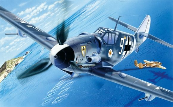 Messerschmitt Bf109G-6 I063 ITALERI AVION MAQUETTE A CONSTRUIRE SYRACOM MODELISME ESLETTES ROUEN NORMANDIE