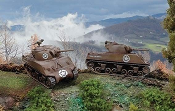 MAQUETTE ITALERI MILITARIA I7518 CHARS M4A3 Sherman (X2) SYRACOM MODELISME ROUEN NORMANDIE