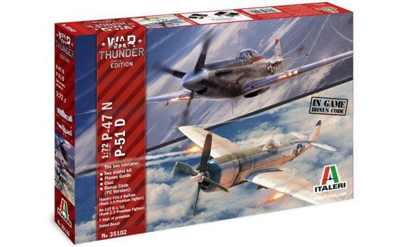 MAQUETTE ITALERI I35102 P-47N & P-51D War Thunder AVION COLLER PEINDRE SYRACOM MODELISME ESLETTES ROUEN