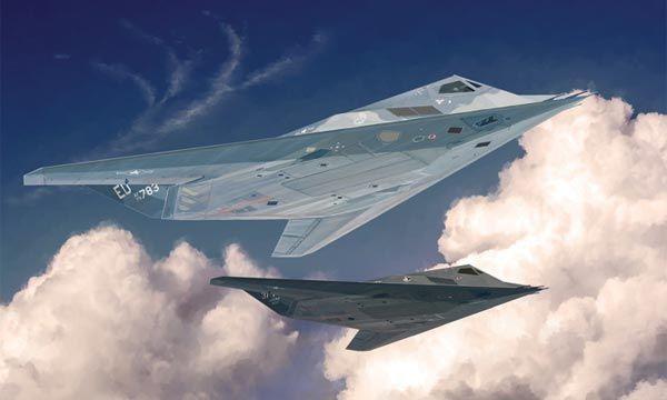 MAQUETTE AVION ITALERI F-117A Nighthawk AILE VOLANTE I2750 SYRACOM MODELISME ESLETTES ROUEN NORMANDIE