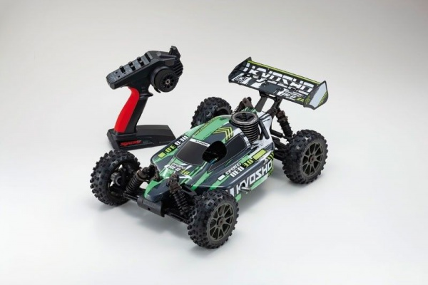 VOITURE THERMIQUE KYOSHO INFERNO NEO T4 K33012T4 GREEN SYRACOM MODELISME ESLETTES ROUEN NORMANDIE