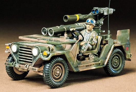 M151A2 JEEP MILITARIA LANCE-MISSILES TOW 35125 ECHELLE 1 35 TAMIYA SYRACOM MODELISME ESLETTES ROUEN NORMANDIE