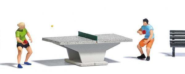 FIGURINE TENNIS DE TABLE PING PONG HO BUE 7843 BUSCH T2M TRAIN SYRACOM MODELISME ESLETTES ROUEN NORMANDIE