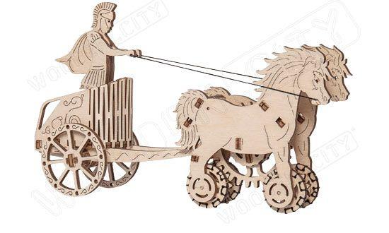 CHAR ROMAIN ROMAN CHARIOT WOODEN CITY S056WR301 SYRACOM MODELISME ESLETTES ROUEN NORMANDIE
