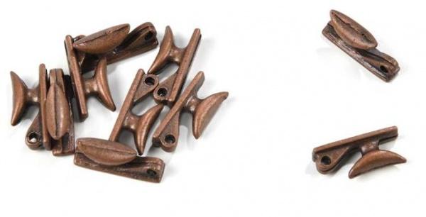 taquets metal avec trou 10mm 4936 amati syracom modelisme eslettes maquette bateau