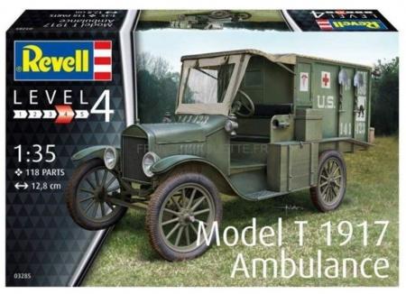 REVELL AMBULANCE T1917 RV03285 MAQUETTE SECONDE GUERRE MONDIALE  SYRACOM MODELISME ESLETTES ROUEN NORMANDIE