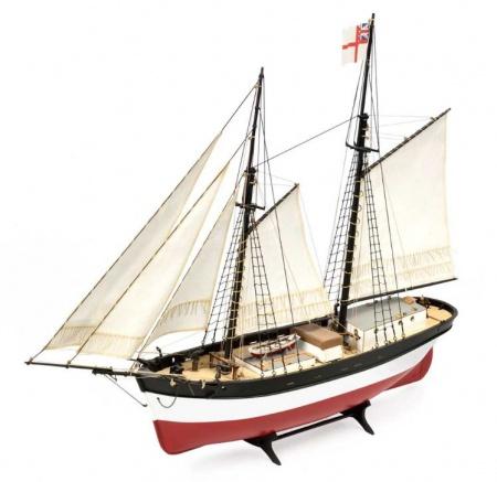 MAQUETTE BATEAU AMATI HUNTER Q-SHIP 1450 GOELETTE CONSTRUCTION BOIS ACCASTILLAGE SYRACOM MODELISME ESLETTES ROUEN NORMANDIE