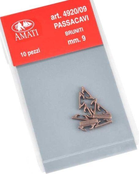 chaumard en métal bruni 9 mm amati 4920.09 accastillage bateau syracom modelisme eslettes rouen normandie