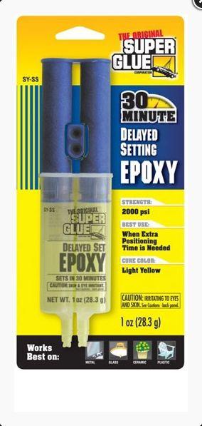 EPOXY 30 MINUTES SY-SS SUPER GLUE COLLE CARBONE FIBRE BOIS METAUX PLASTIQUE