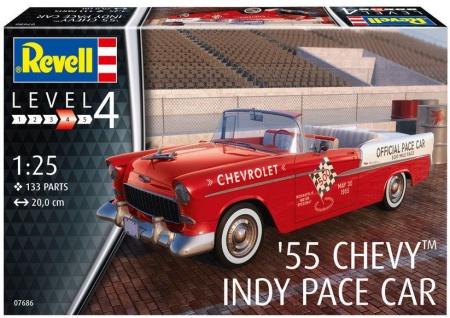 maquette voiture chevrolet revell 55 chevy indy pace car 4009867686 syracom modelisme eslettes rouen normandie