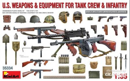 MINIART MAQUETTE ARMES FUSILS US EQUIPEMENT TANK 6465334 SYRACOM MODELISME ESLETTES ROUEN NORMANDIE