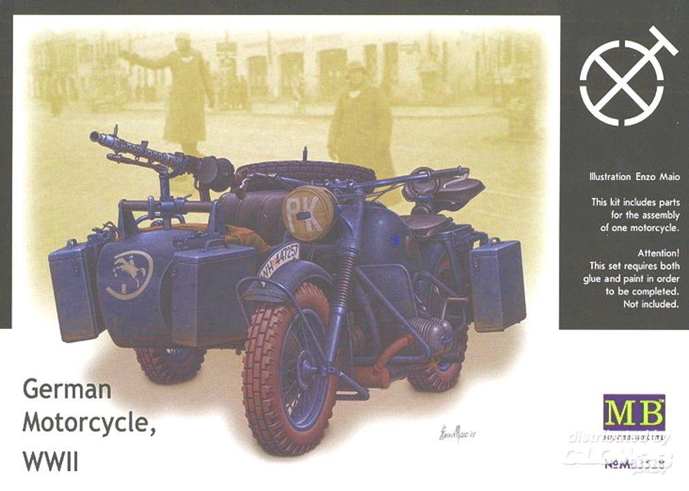 SIDE CAR ALLEMAND MB3528 MOTO SYRACOM MODELISME ESLETTES ROUEN NORMANDIE