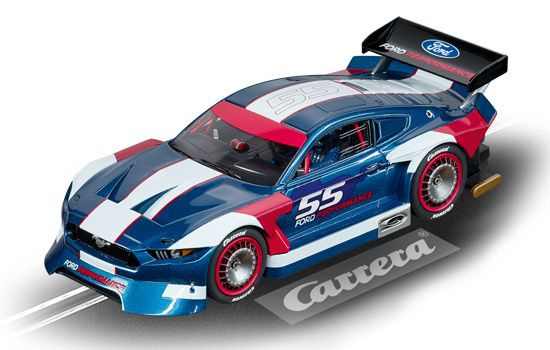 VOITURE CARRERA FORD MUSTANG GTY 55 CA27637 SYRACOM MODELISME ESLETTES ROUEN NORMANDIE