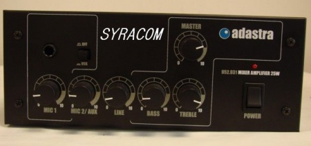 AMPLI  ADASTRA 952.931 MIXER AMPLIFIER 25W SYRACOM RADIOCOMMUNICATION NORMANDIE CIBI ESLETTES ROUEN