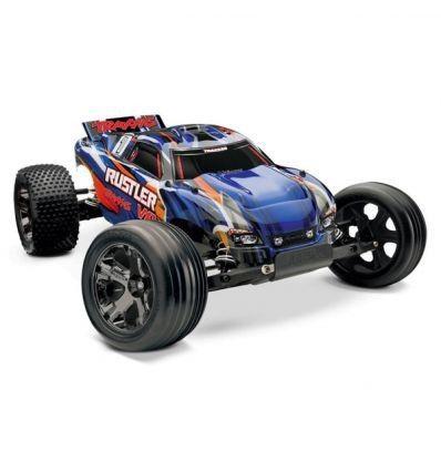 voiture radiocommandee électrique traxxas rustler BLEU syracom modelisme eslettes rouen normandie 37076-3