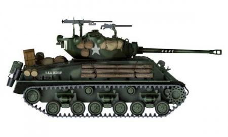CHAR D'ASSAULT  M4A3ES SHERMAN I6529 TAMIYA MAQUETTE A CONSTRUIRE SYRACOM MODELISME ESLETTES ROUEN NORMANDIE