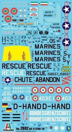 HELICOPTERE BELL AB 212  UH 1N  ITALERI  I2692 SYRACOM MODELISME ESLETTES ROUEN NORMANDIE