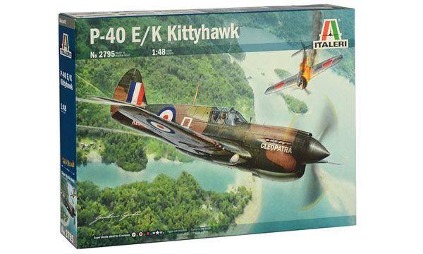 maquette italeri I2795 P-40E K KITTYHAWK AVION GUERRE MILITARIA KIT SYRACOM MODELISME ESLETTES ROUEN NORMANDIE