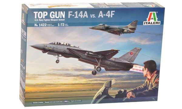 MAQUETTE ITALERI  I1422 COMBO TOP GUN F14A ECHELLE 1-72 AVION JET A-4F SYRACOM MODELISME ESLETTES ROUEN NORMANDIE
