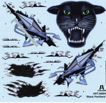 MAQUETTE ITALERI AVION I2668 Tornado IDS Black Panthers PANTHERE SYRACOM MODELISME ESLETTES ROUEN NORMANDIE