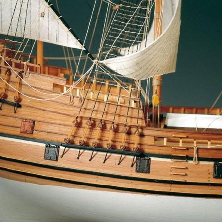 MAQUETTE BATEAU AMATI MAYFLOWER 1413 CONSTRUCTION BOIS ACCASTILLAGE CORDAGE SYRACOM MODELISME ESLETTES ROUEN NORMANDIE