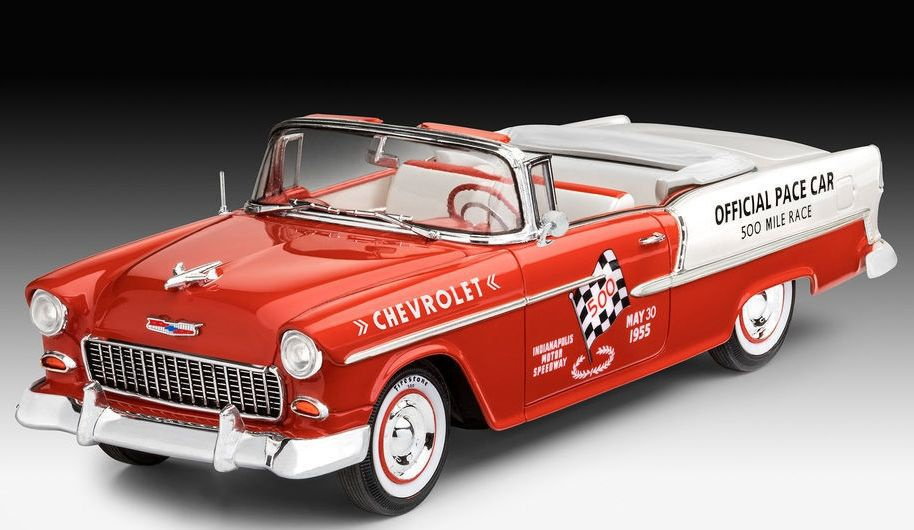 maquette voiture chevrolet revell 55 chevy indy pace car rouge 4009867686 syracom modelisme eslettes rouen normandie