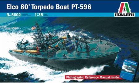MAQUETTE BATEAU A CONSTRUIRE ITALERI ELCO 80 TORPEDO BOAT PT-596 I5602 SYRACOM MODELISME ESLETTES ROUEN NORMANDIE