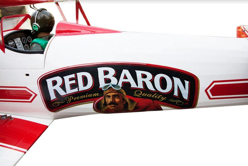 AVION RADIOCOMMANDE THERMIQUE RED BARON STEARMAN 20CC S144277 BI-PLAN SYRACOM MODELISME ESLETTES ROUEN NORMANDIE